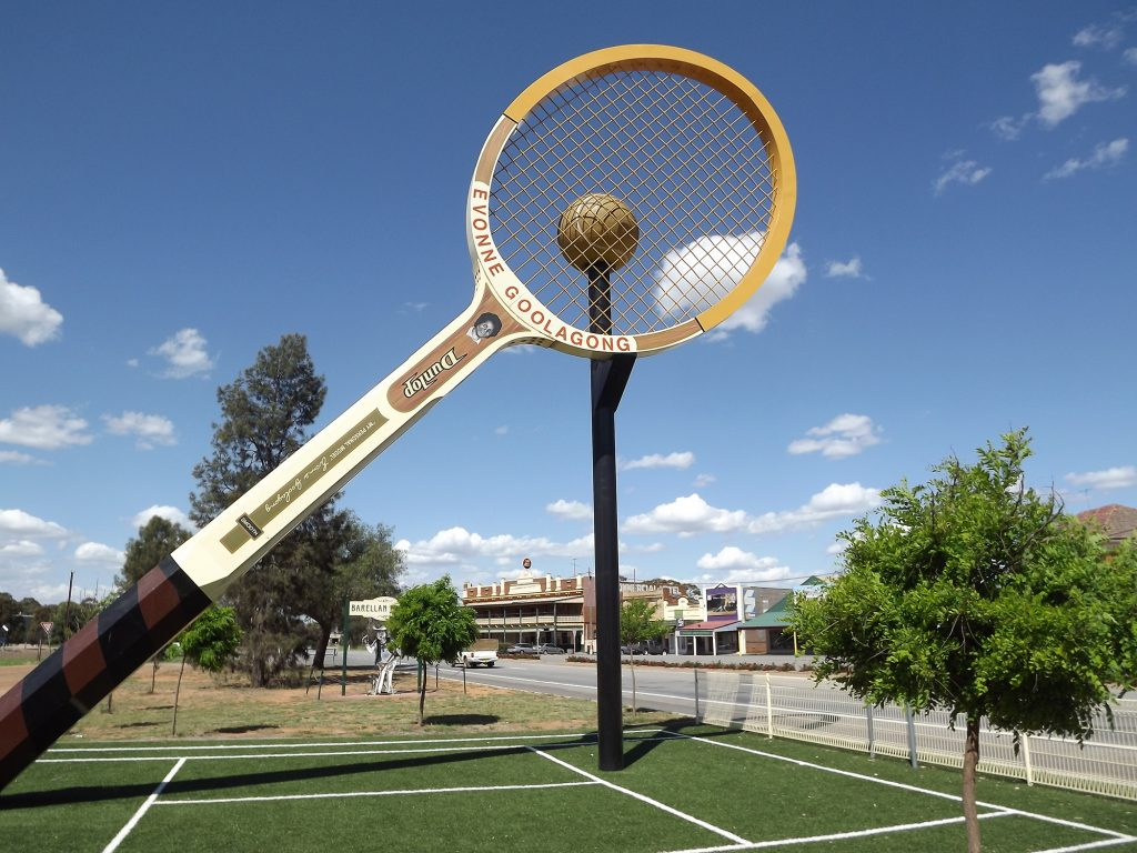 The Big Tennis Racquet, Barellan