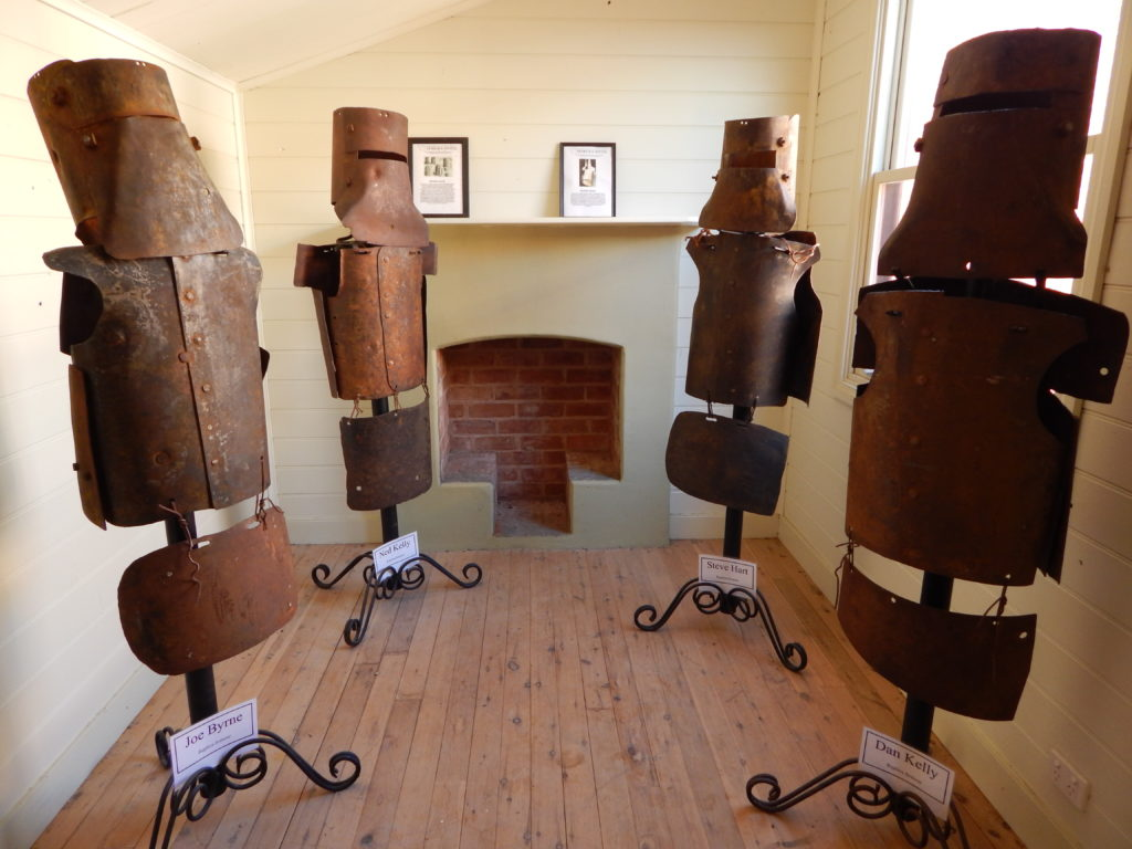 Ned Kelly Gang Armour on display in Jerilderie