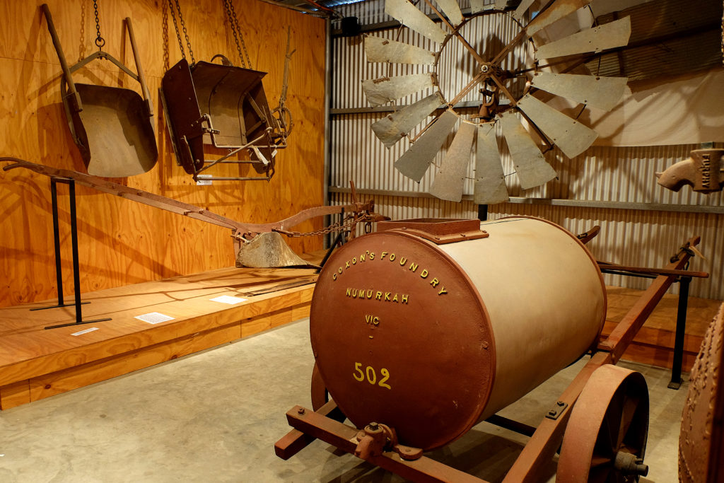 A collection of rare agricultural machinery and equipment is on display in Coolamon at the Up-to-date store.